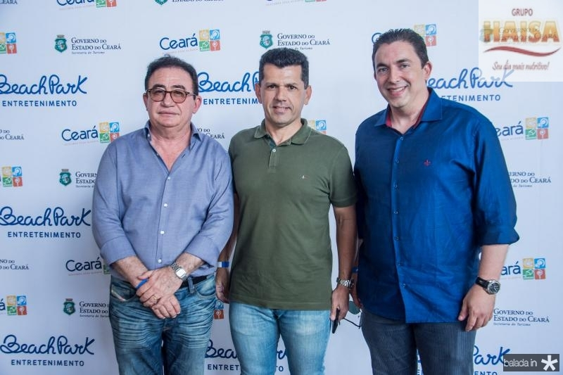 Manoel Linhares, Erick Vasconcelos e Rodrigo Pereira