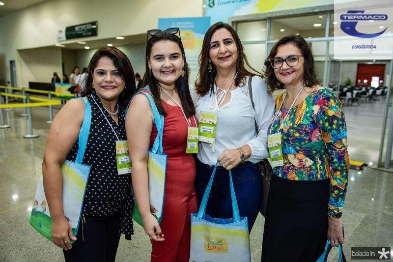 Adila Suyanne, Rebeca Barros, Ivaneide Antunes e Glauciane de Oliveira