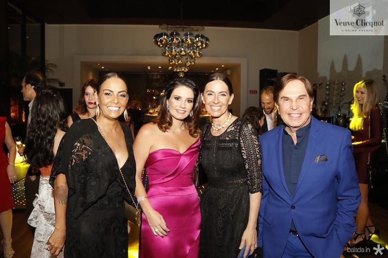 Gil Santos, Renata Studart, Flora Gil e Lazaro Medeiros