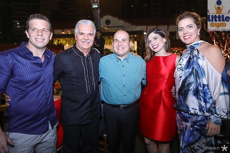 Andre e Pio Rolim, Roberto e Carol Bezerra, Ticiana Rolim