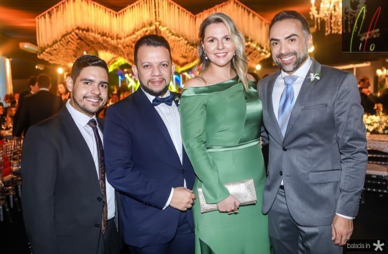 Bruno Mesquita, Roberto Alves, Alexia Fontes e Padua Lopes