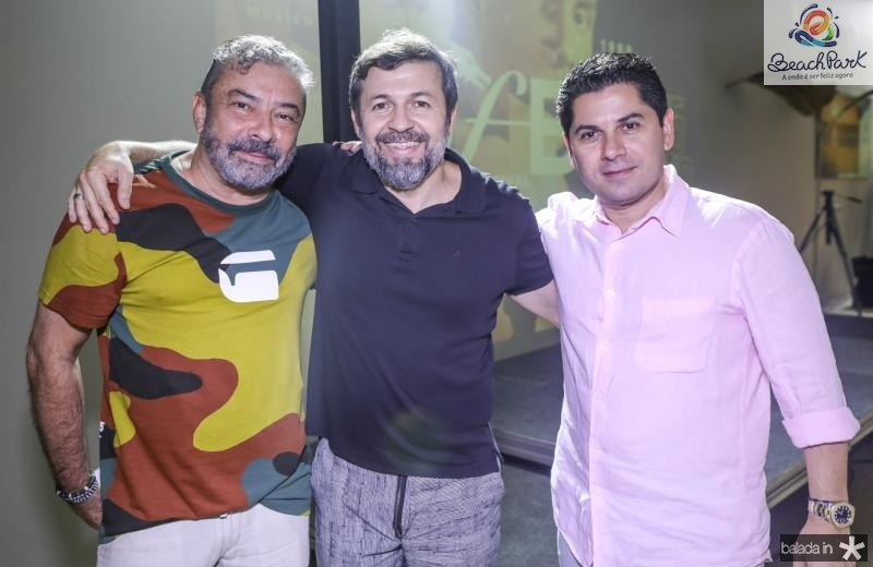 Claudio Silveira, Elcio Batista e Pompeu Vasconcelos