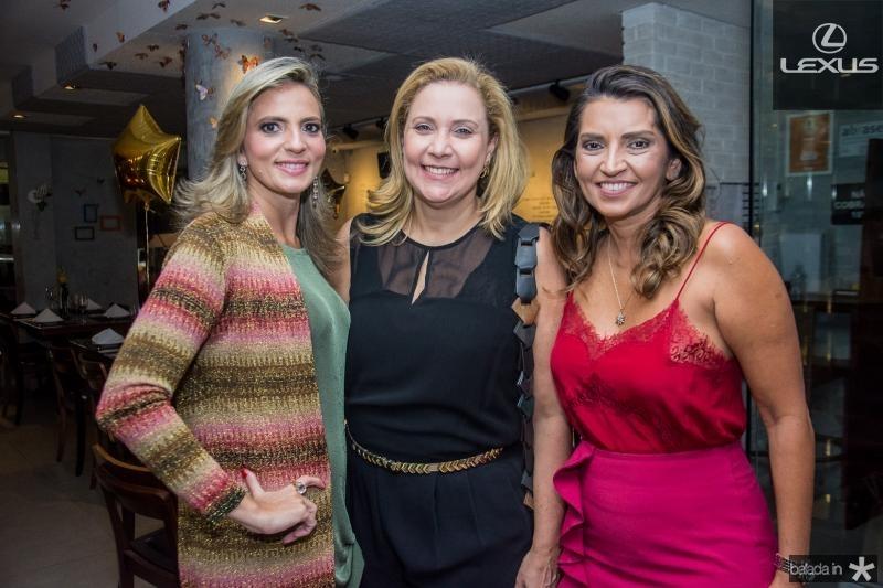 Michele Aragao, Andrea Delfino e Marcia Travessoni