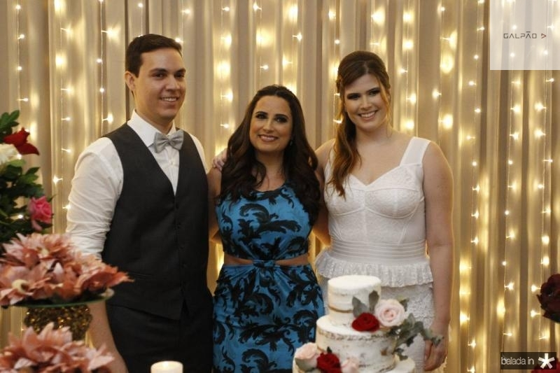 Paulo Victor, Raquel Bezerra e Ana Maria