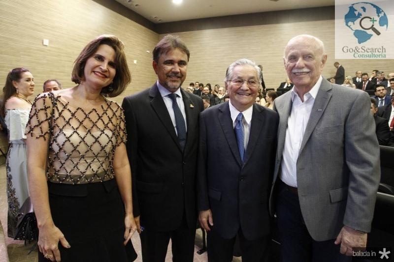 Daniela Cabral, Gilberto Costa, Francisco Lavanery e Freitas Cordeiro