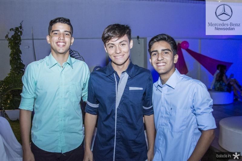 Diego Veras, Caleb Sales e Igor Costa