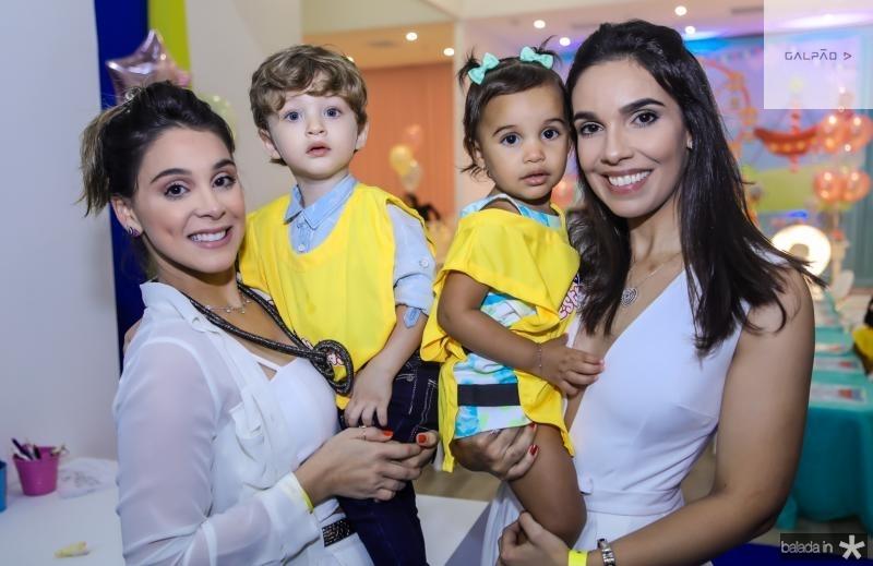 Patricia e Bento Goes, Eduarda e Raissa Chaves