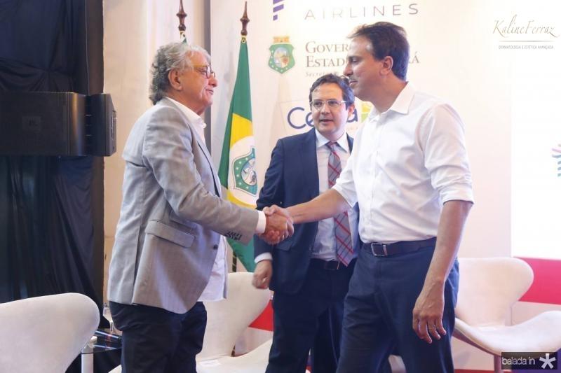 Arialdo Pinho, Edilberto Pontes e Camilo Santana