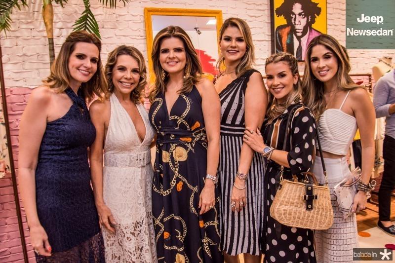 Viviane Goyanna Bayma, Lilian Porto, Cristine Feitosa, Carine Moreira, Roberta Quaranta e Manoela Castro