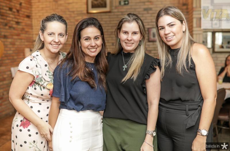 Aline Amorim, Claudiana e Adriana Loureiro, Ticiana Vieira