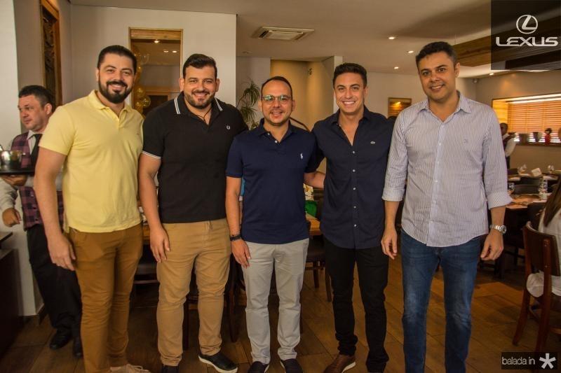 Rodrigo Moraes, Renato Lourenco, Daniel Meireles, Flavio Ribeiro e Gustavo Cruz