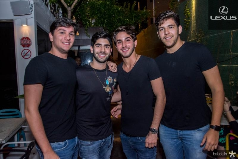 Eduardo Frota, Deib Neto, Gabriel Soarez e Pedro Borges