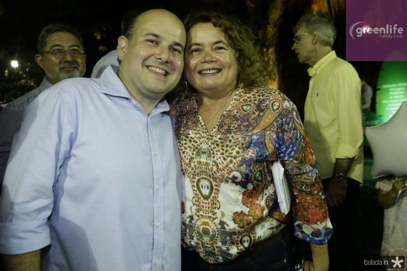 Roberto Claudio e Meire Marino