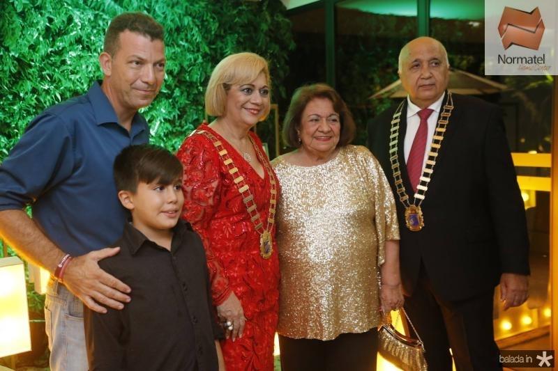Ricardo, Ricardinho, Priscila e Leda Cavalcante e Epitacio Vasconcelos