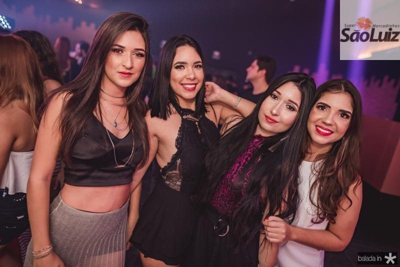 Flavia Ferreira, Bruna Cristina, Amanda Barbosa e Talita Domenic