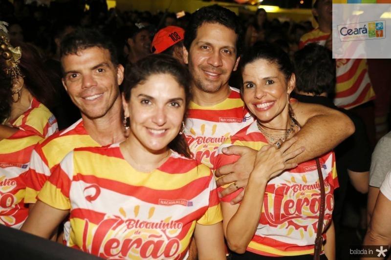 Lourenco e Sidia Bizarria, Bruno e Ticiana Oliveira