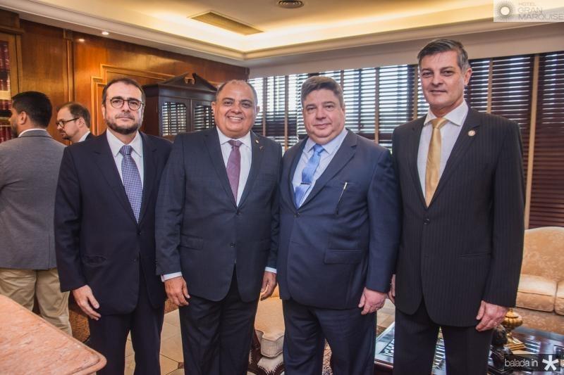 Jose Leite, Teodoro Silva, Raul Araujo e Cid Marconi