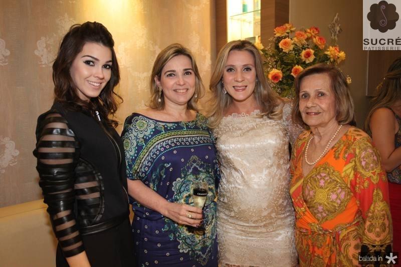 Carine e Jacqueline Figueiredo, Olga Saraiva e Eudy Figueiredo