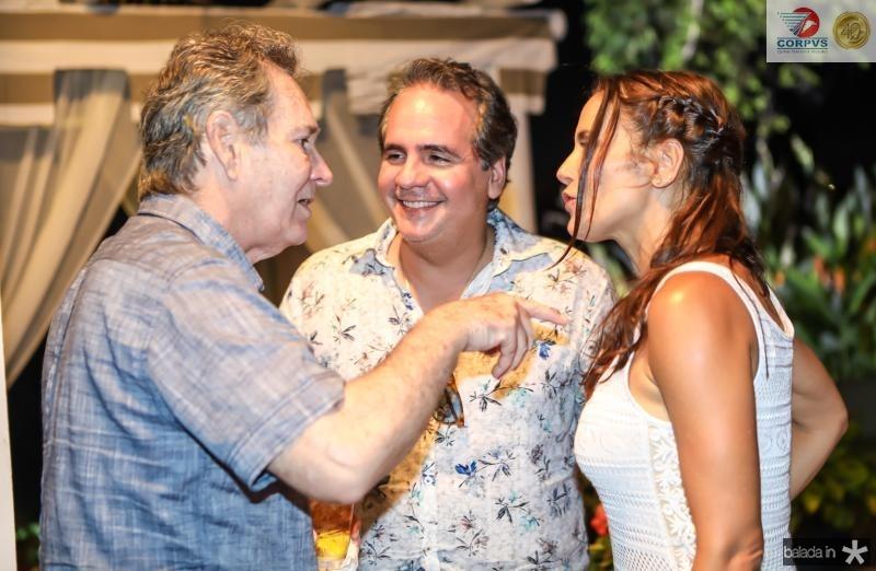 Claudio Rocha, Ricardo e Manoela Bacelar