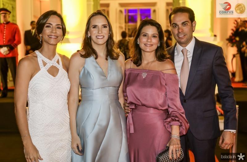 Karine Studart, Renata Santos, Renata e Claudio Vale