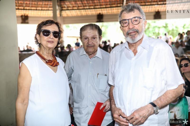 Emengarda Santana, Mauro Benevides e Eudoro Santana
