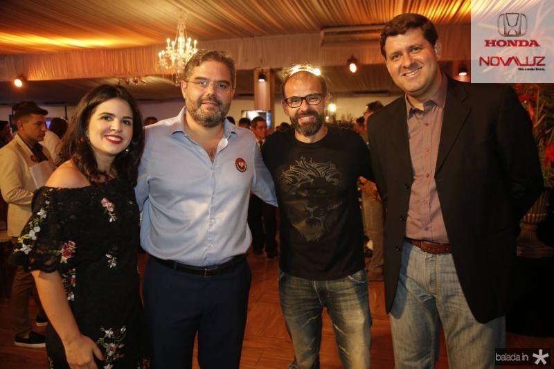 Livia Medeiros, Edson Queiroz Neto, Andre Mota e Rafael Rodrigues