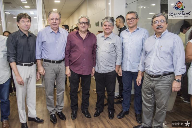 Edgar Gadelha, Ricardo Cavalcante, Fred Fernandes, Chico Steves, Eulalio Costa e Roberto Sergio