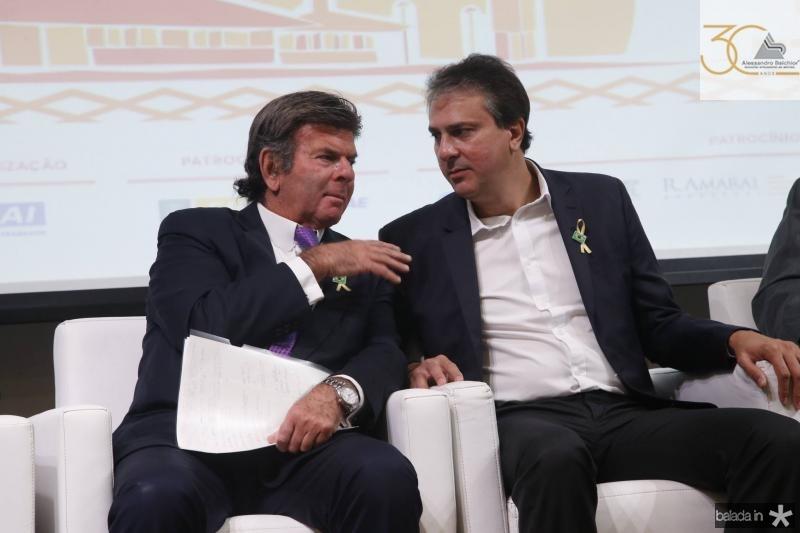 Luiz Fux e Camilo Santana