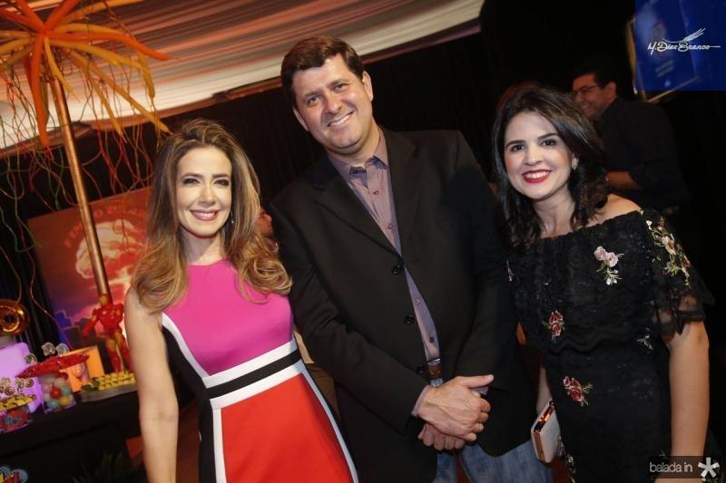 Adamir Macedo, Rafael Rodrigues e Livia Medeiros