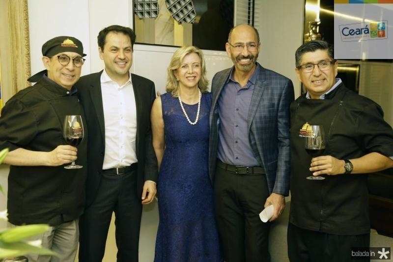 Javier Yugar, Mauricio Maia, Ana Luiza, Michel Farah e Juan Carlos