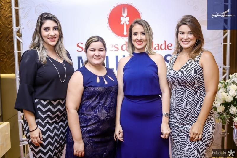 Barbara Mesquita, Liduina Figueiredo, Izaqueline Ribeiro e Isabelle Lunguinho
