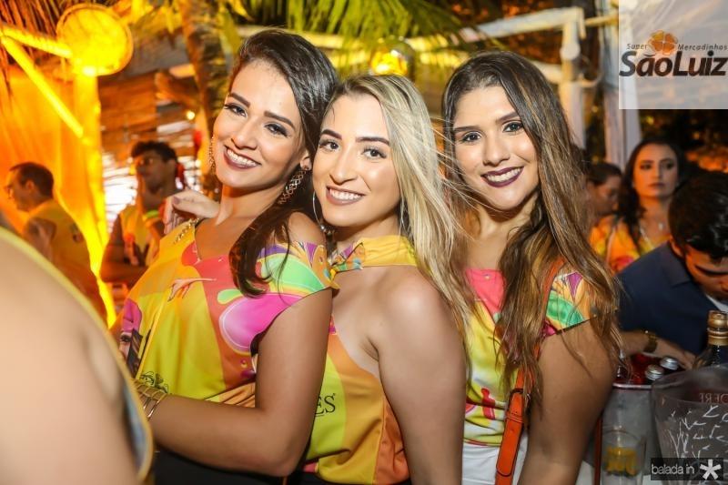 Natalia Duarte, Aline Alves e Raiana Tomaz