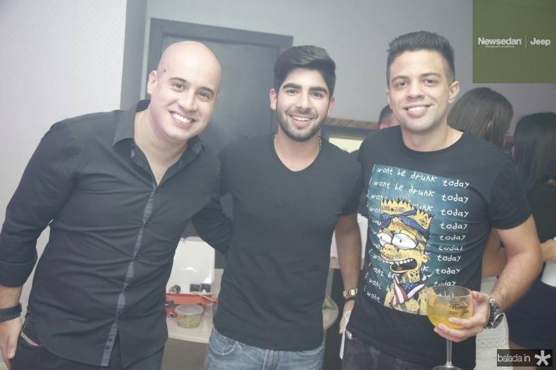 Carlos Henrique, Deib Neto e Joao Victor