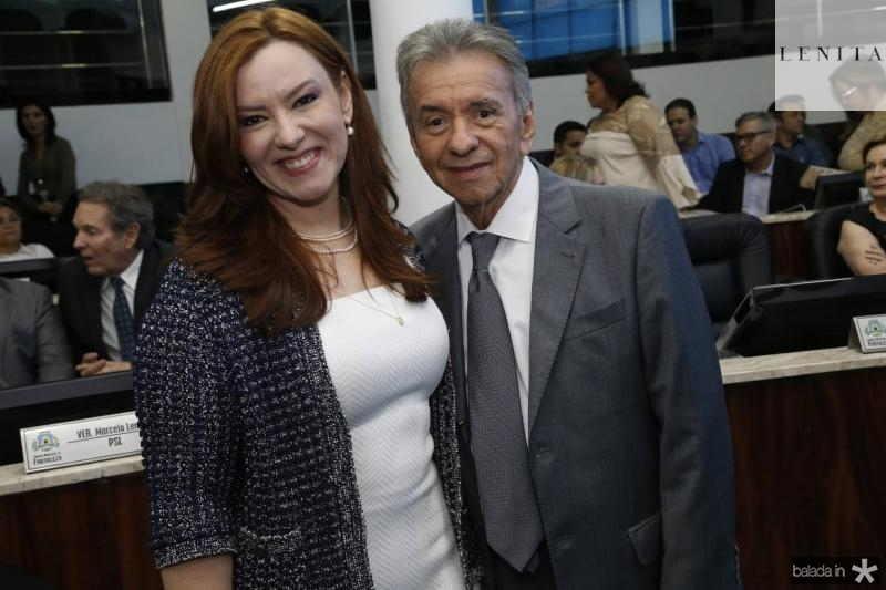 Aline Barroso e Magela Felix