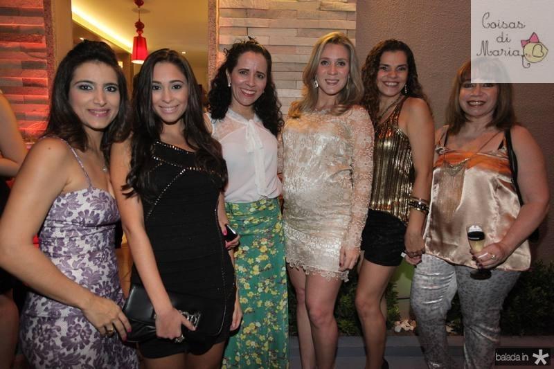 Camila Rodrigues, Brenda Bernardo, Huguetti Ribeiro, Olga Saraiva, Virginia Souza e Gerlene Castelo Branco