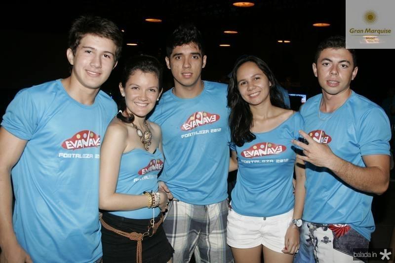 Tarciano Macedo, Karla Rocha, Caio Barreto, Eveline Oliveira e Leandro Pereira