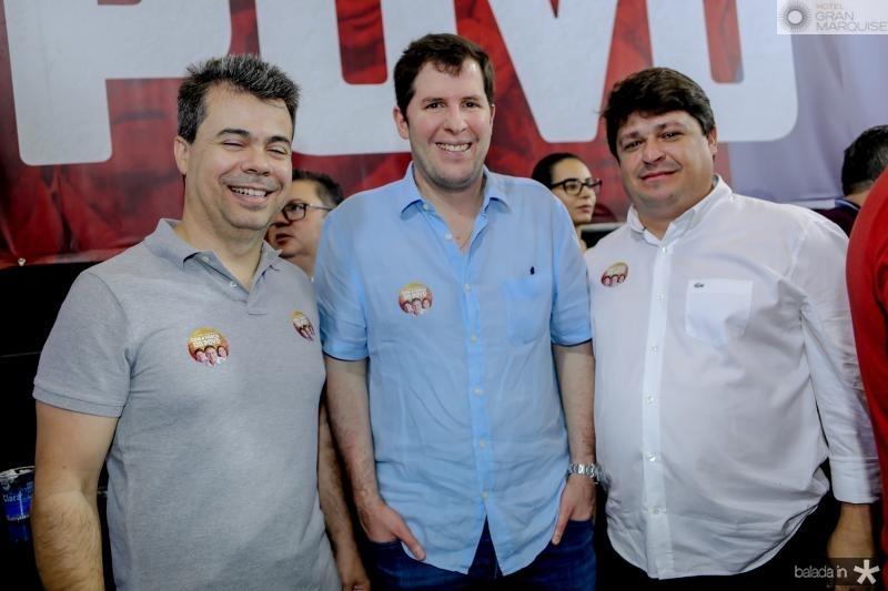Duda Brigido, Rodrigo Carneiro e George Lima