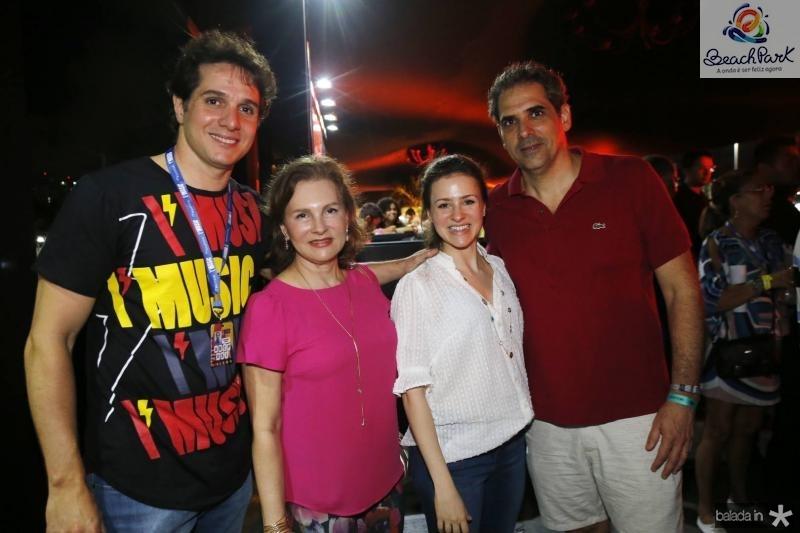 Benjamin Oliveira, Renata Jereissati, Natalia e Igor Macedo