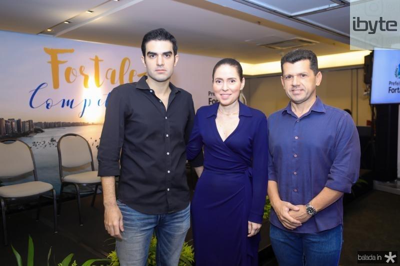 Rodrigo Nogueira, Agueda Muniz e Erick Vasconcelos