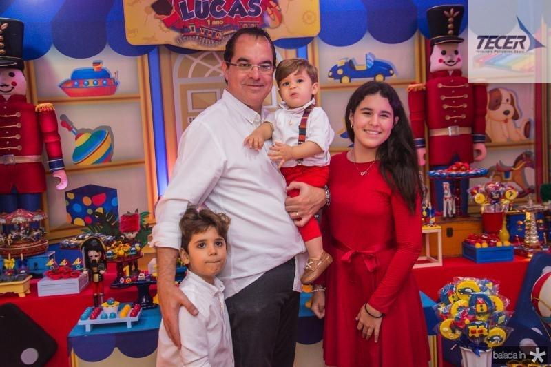 Leozinho, Leonardo, Lucas e Lara Albuquerque