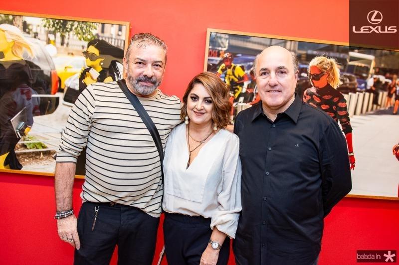 Claudio Silveira, Helena Silveira e Silvio Frota