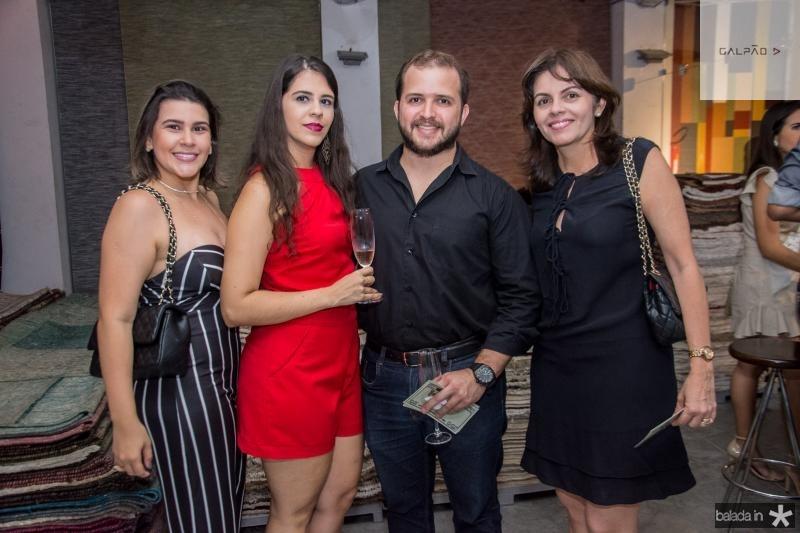 Wiuly Maia, Ligia Feitosa, Bruno Penteado e Andrea Fernandes