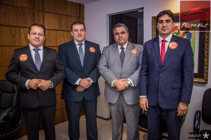 Robson Freitas, Leonardo Figueiredo, Fabio Timbo e Leonardo Feitosa