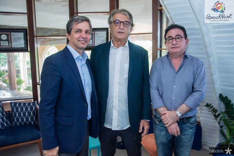 Romulo Soares, Arialdo Pinho e Manoel Linhares