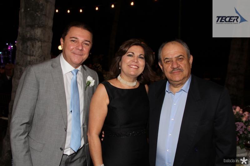 Eliseu Barros com Aurea e Marcelo Teixeira