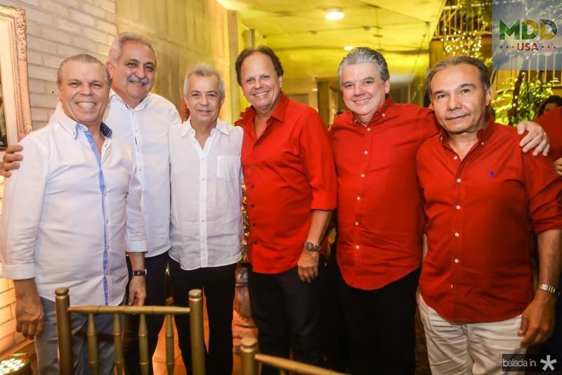 Claudio Studart, Paulo Baquite, Clovis Rolim, Wilton Correia Lima, Chico Steves e Claudio Aguiar