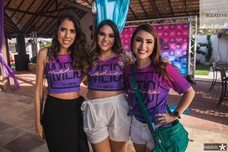 Thayna Custodio, Clara Barreto e Marina Solto