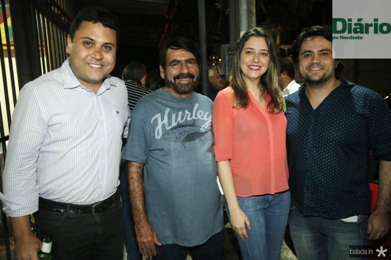 Paulo Henrique, Joao Bosco, Caroline Viana e Anderson Costa