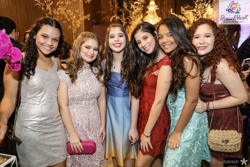 Julia Caroline, Marcela Vilar, Milena Palacio, Eduarda Vieira, Rafaela Benevides e Gisele Maria