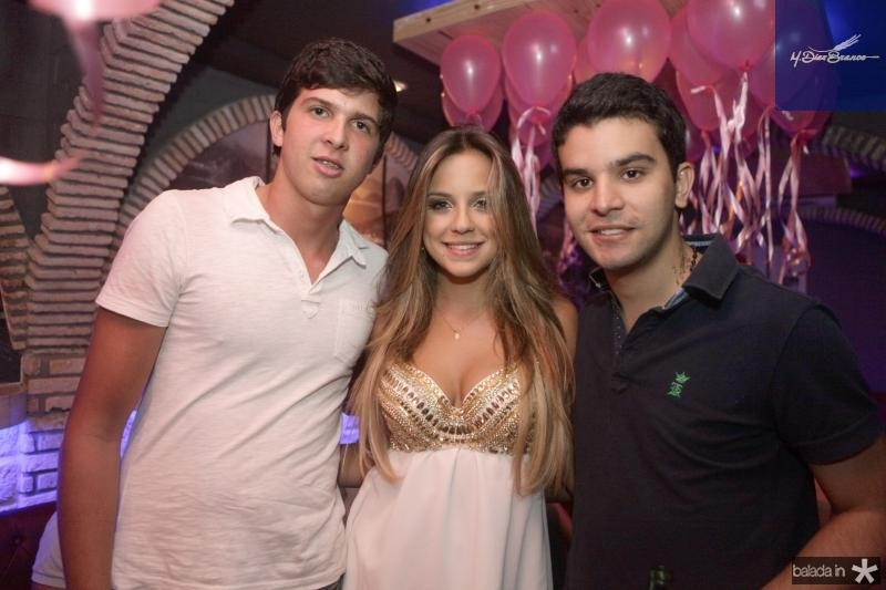 Diego Bicalho, Fernanda Levy e Huilherme Negreiros